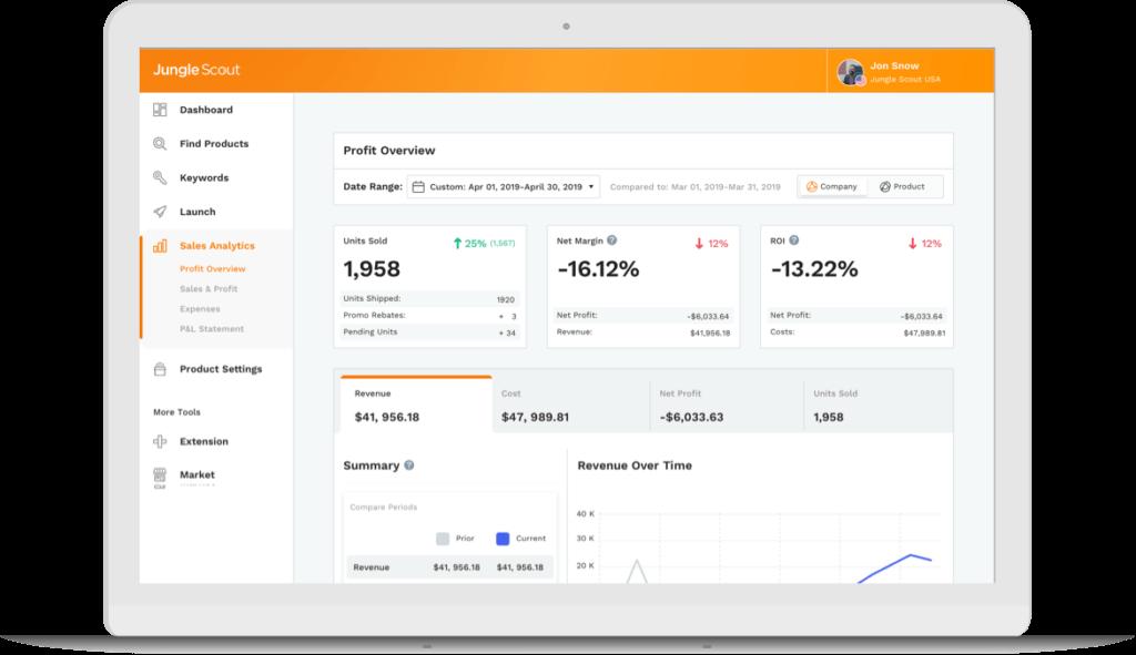 Sales analytics laptop