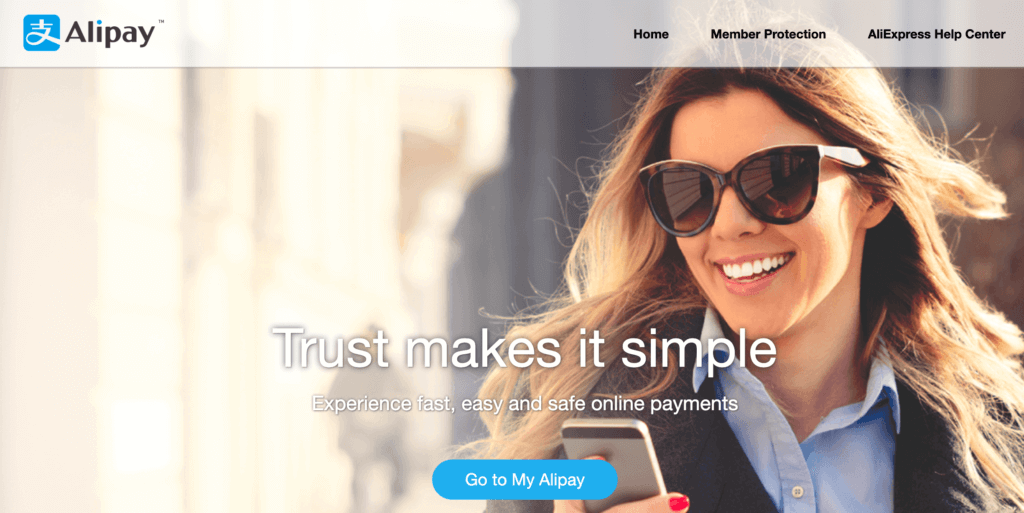 What Is Alibaba?: Alipay homepage