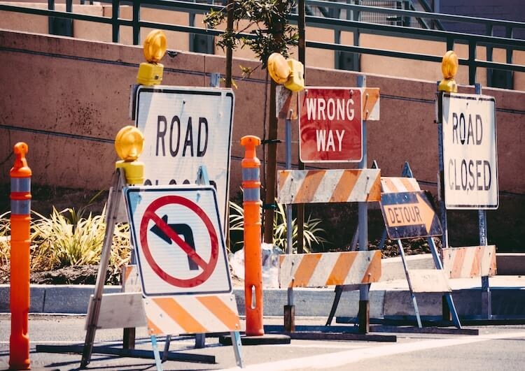 Amazon FBA seller mistakes: road signs