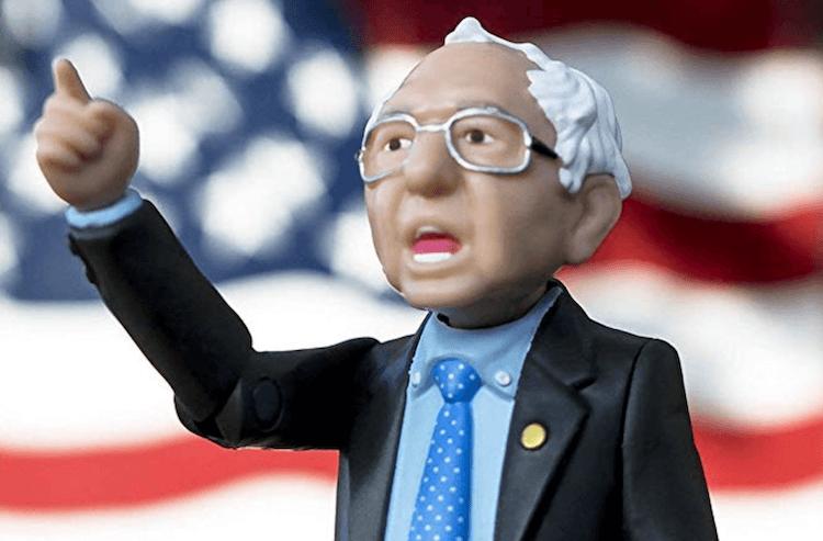 2020 campaign merchandise: Bernie Sanders action figure