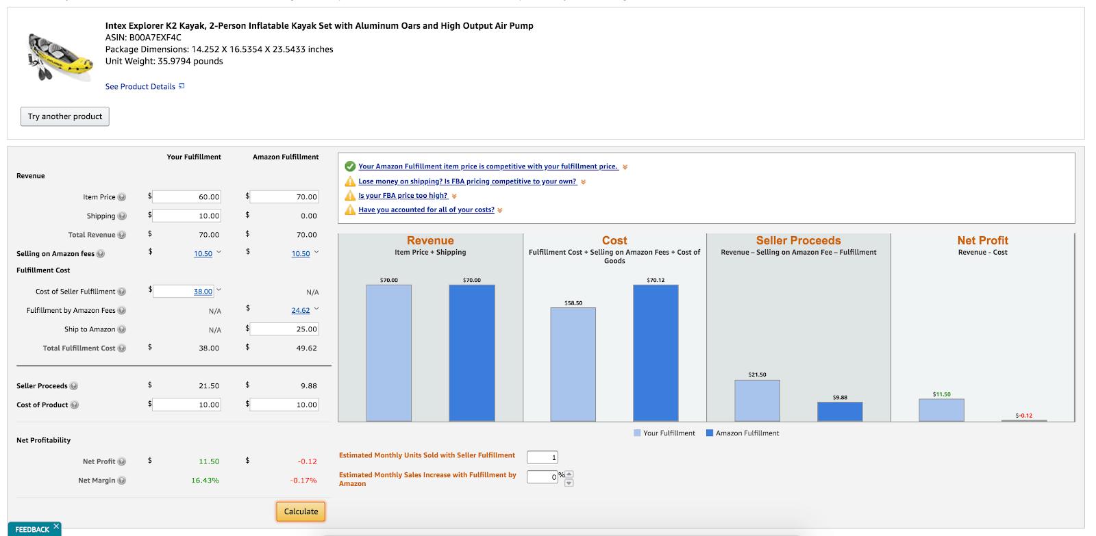 Sell on Amazon FBM: Amazon fee calculator