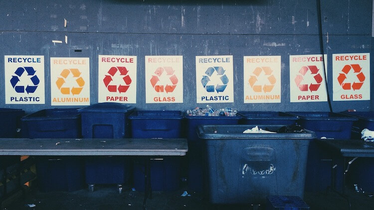 Sustainable business practices: recycling posters by @rebekah via Twenty20