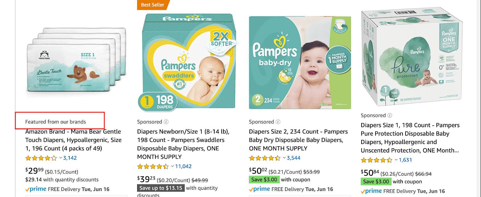 Amazon product categories: diapers