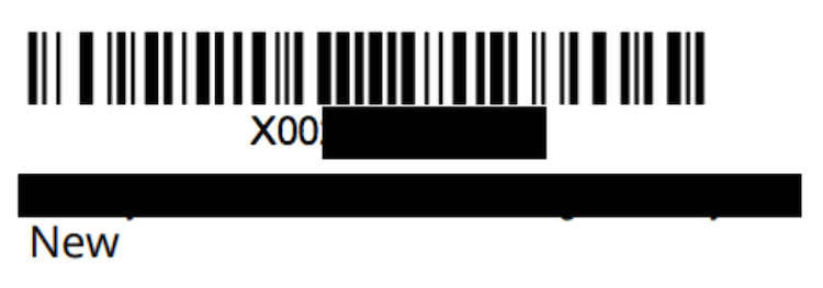 Amazon GTIN exemption: barcode example