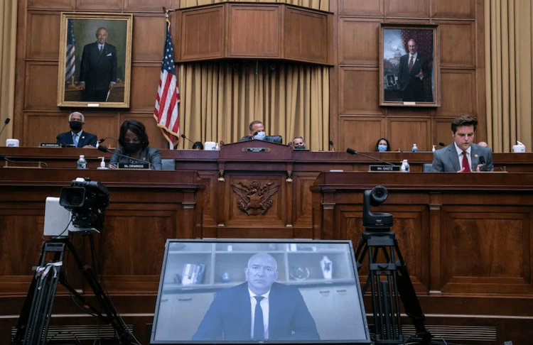 Amazon antitrust hearing: Committee room image taken by Graeme Jennings/AFP via Getty Images