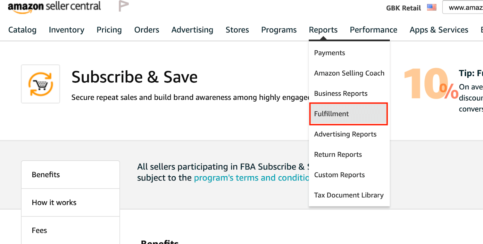 Amazon Subscribe & Save: reporting in Seller Central