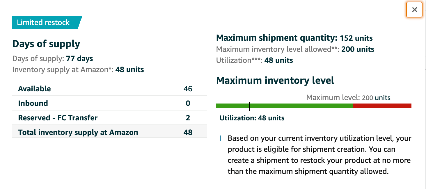 Amazon's fulfillment alternatives: max inventory limits