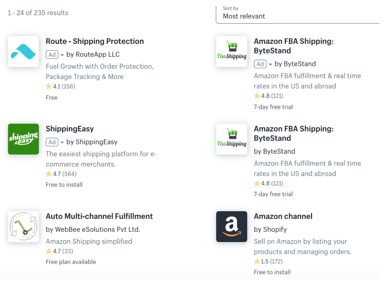 use a third-party app to seamlessly integrate Amazon FBA with Shopify