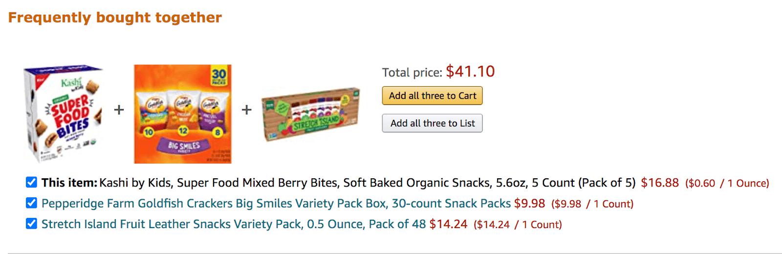 Amazon product bundling recipe